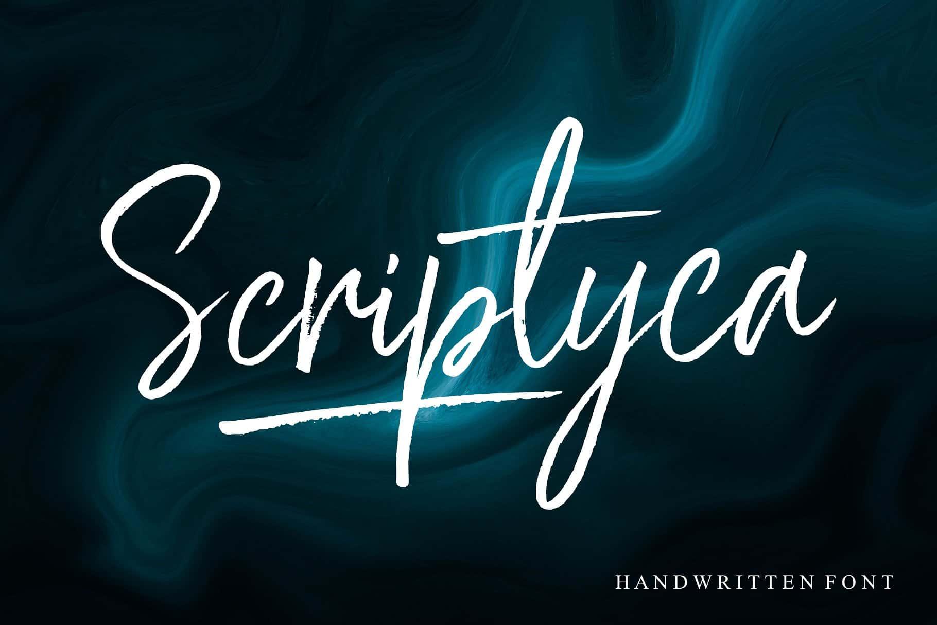 Scriptyca шрифт скачать бесплатно