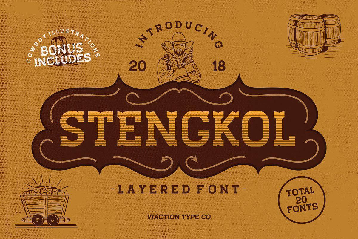 Stengkol шрифт скачать бесплатно
