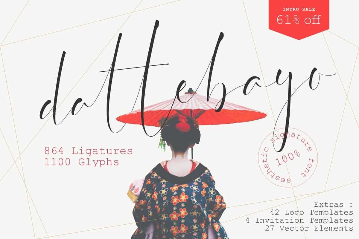 Dattebayo шрифт скачать бесплатно