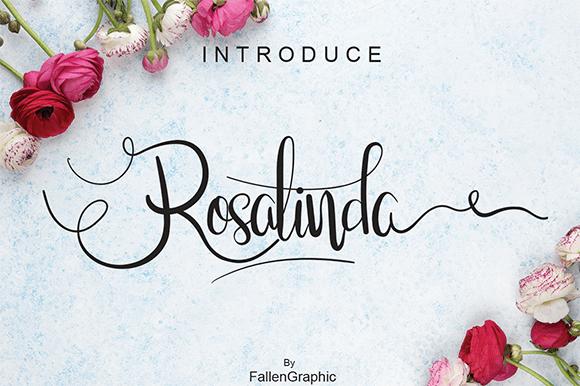 Rosalinda шрифт скачать бесплатно
