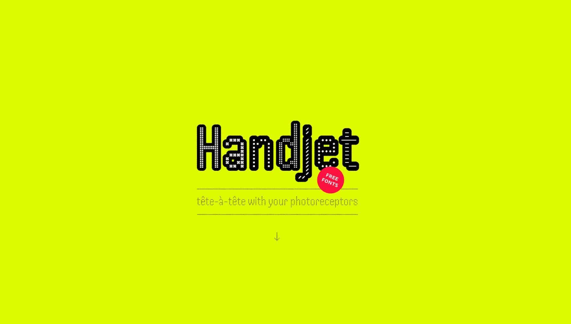Handjet шрифт скачать бесплатно