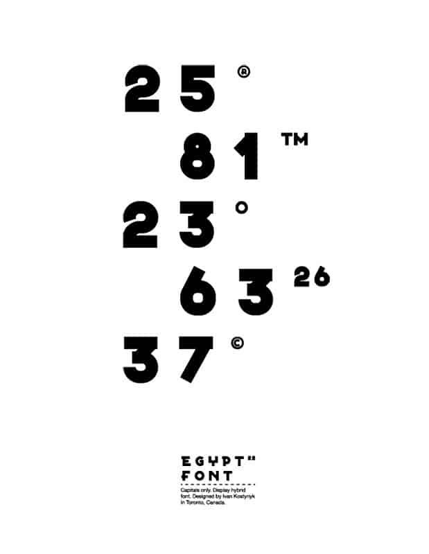Egypt 22 шрифт скачать бесплатно