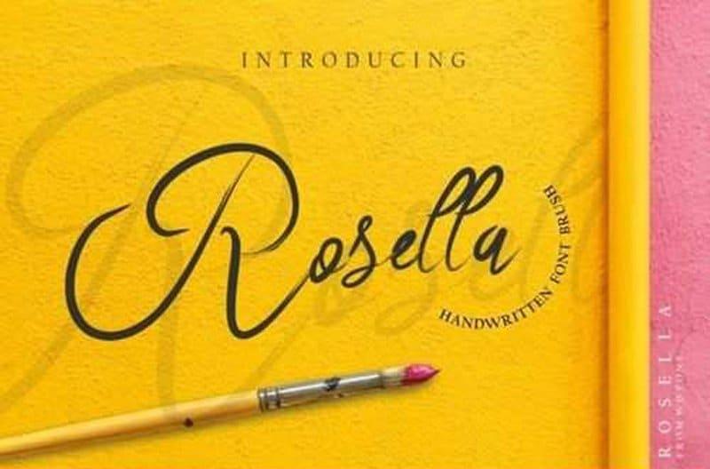 Rosella шрифт скачать бесплатно