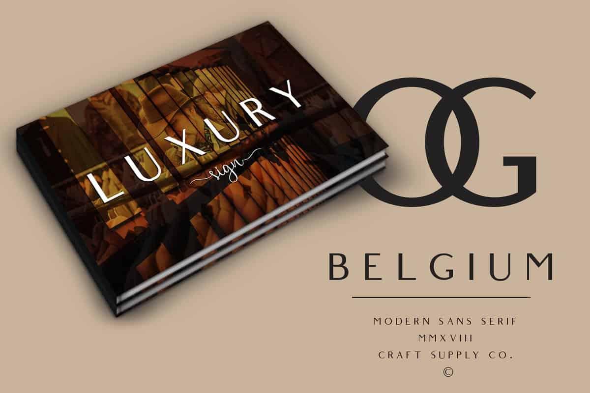 Belgium шрифт скачать бесплатно
