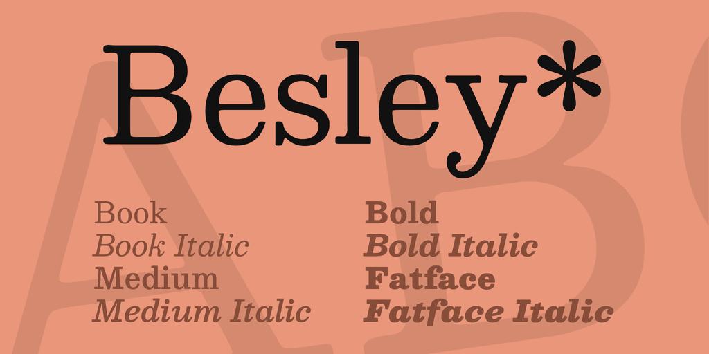 Besley шрифт скачать бесплатно