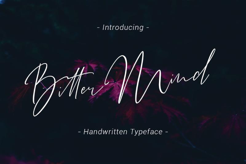 Bitter Mind шрифт скачать бесплатно