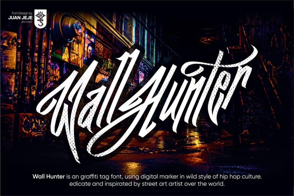 JFK Wall Hunter шрифт скачать бесплатно