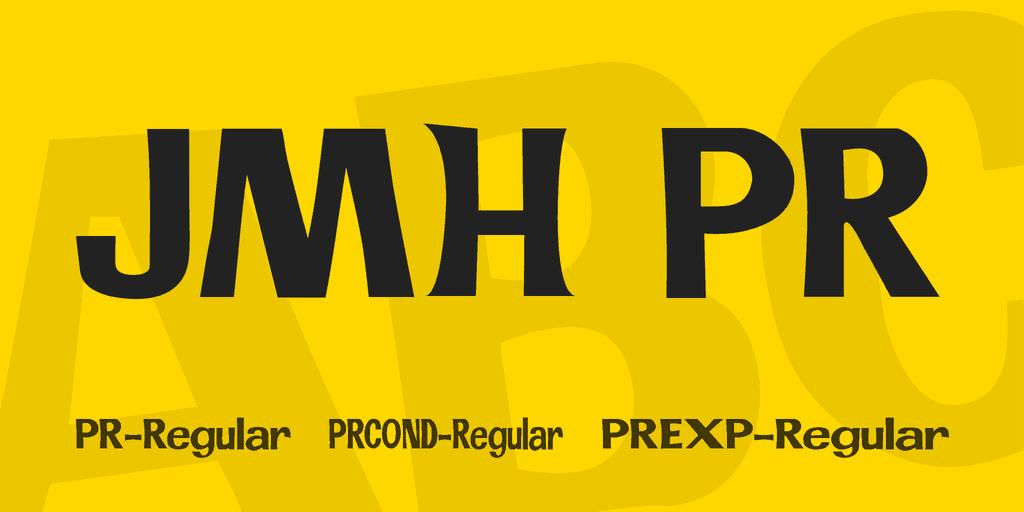 JMH PR шрифт скачать бесплатно