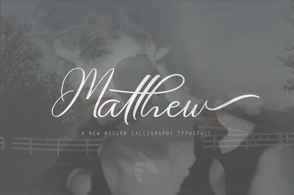 Matthew шрифт скачать бесплатно