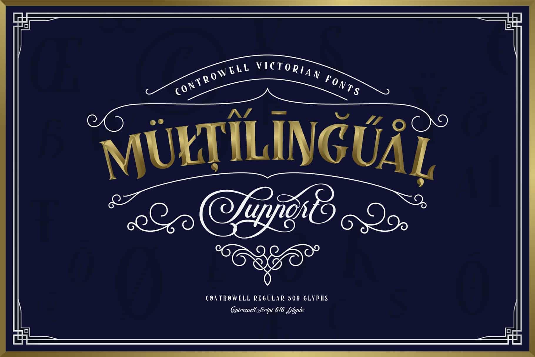 Controwell Victorian Typeface шрифт скачать бесплатно