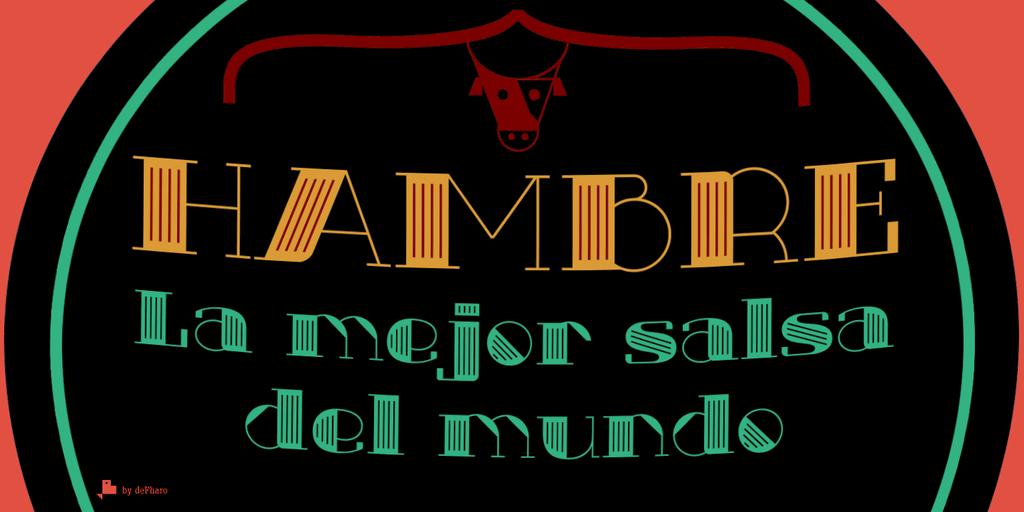 Txuleta Deco шрифт скачать бесплатно