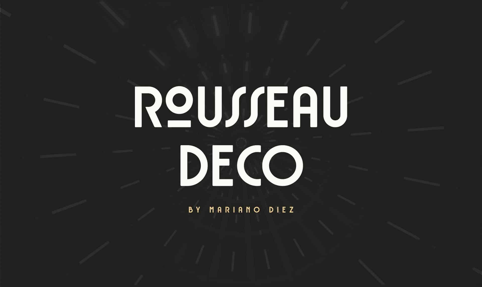 Rousseau Deco шрифт скачать бесплатно