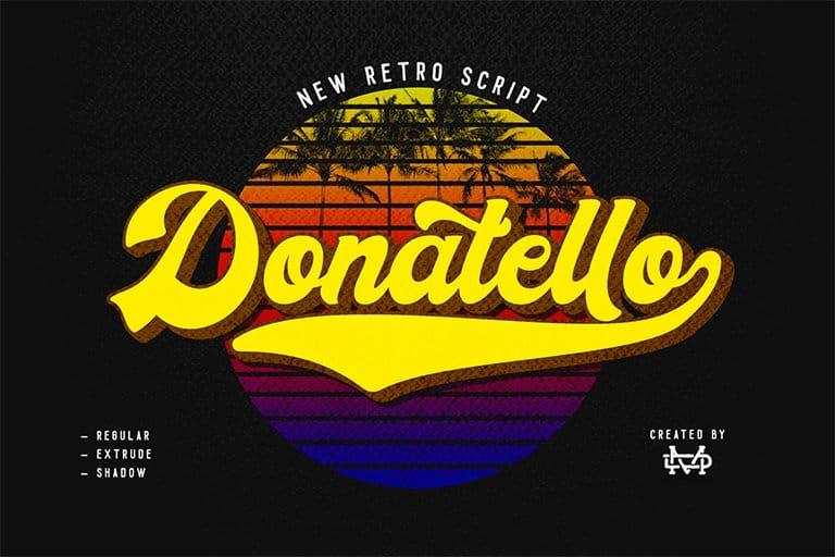 Donatello шрифт скачать бесплатно