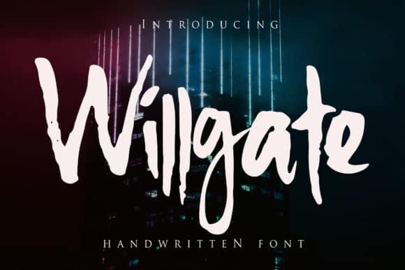 Willgate шрифт скачать бесплатно