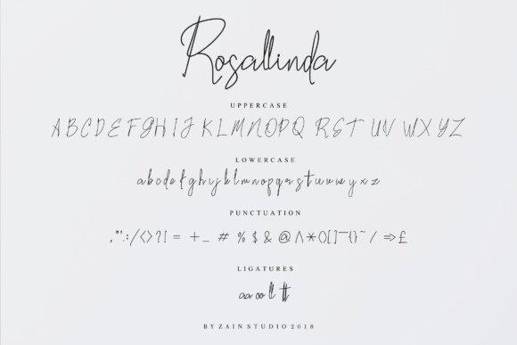Rosallinda шрифт скачать бесплатно