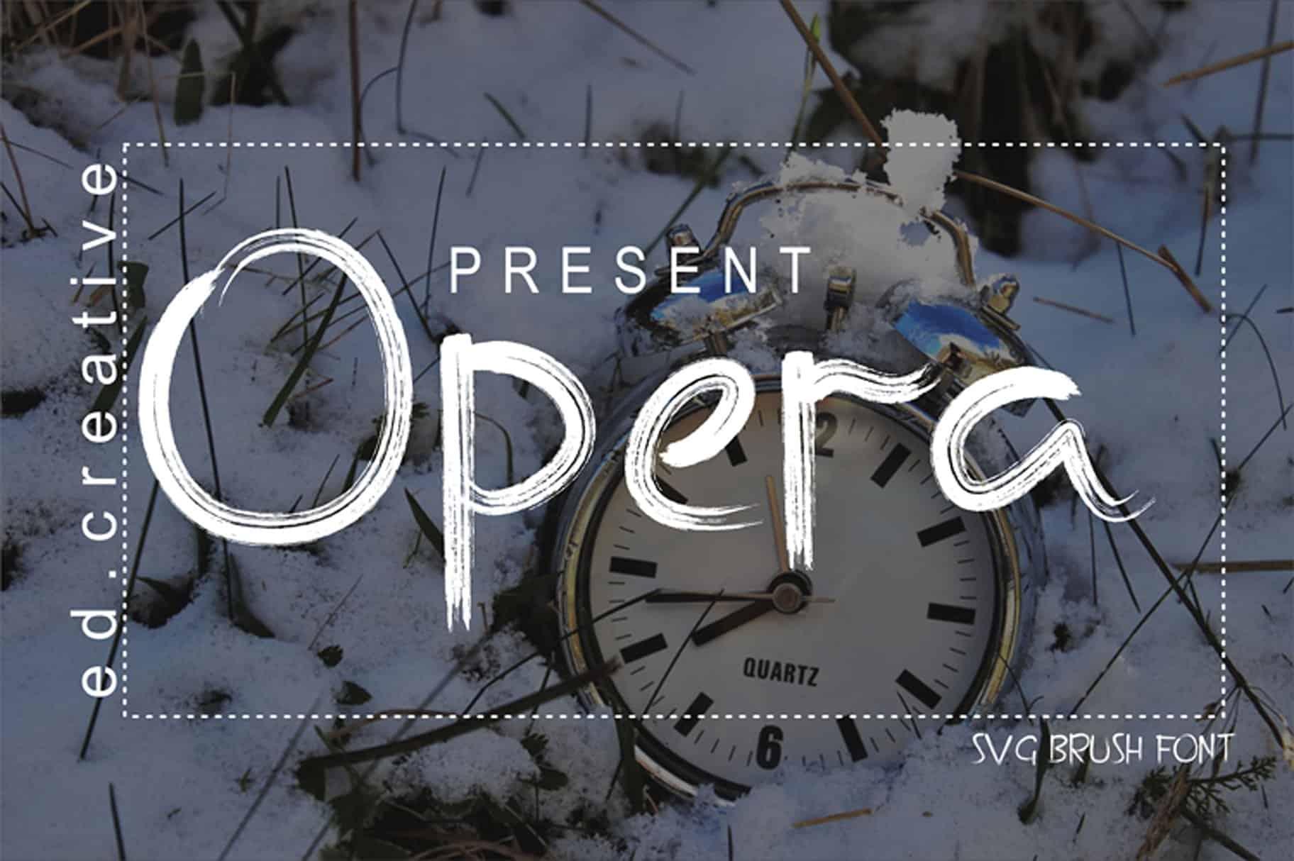 Opera Brush шрифт скачать бесплатно