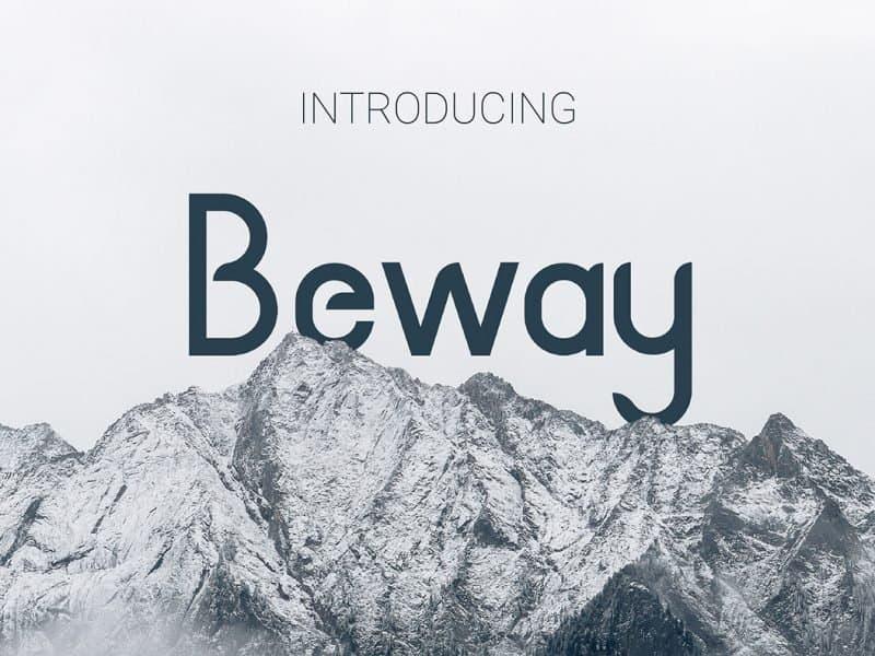 Beway шрифт скачать бесплатно