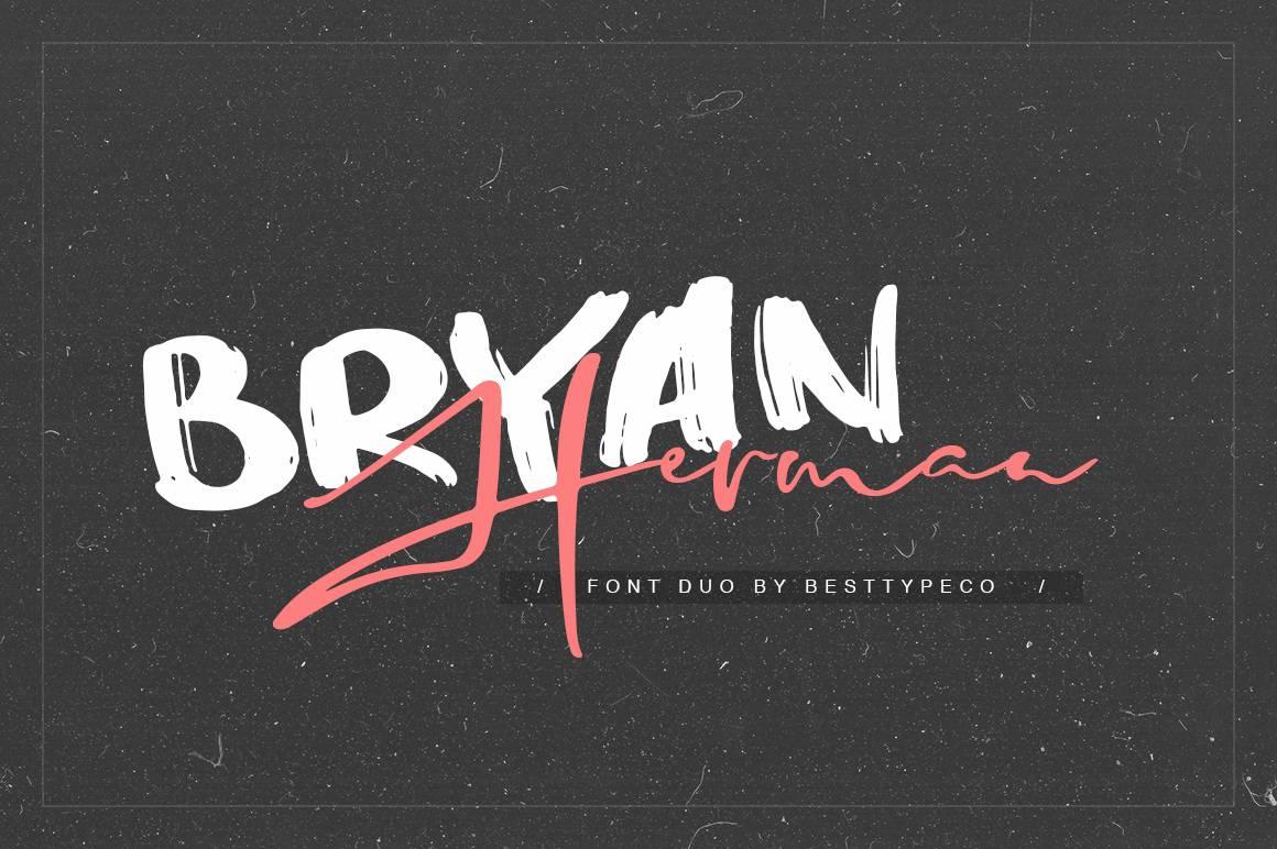 Bryan Herman шрифт скачать бесплатно