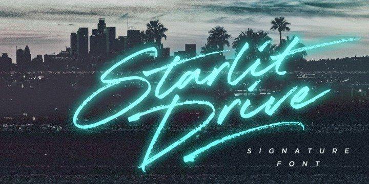 Starlit Drive шрифт скачать бесплатно