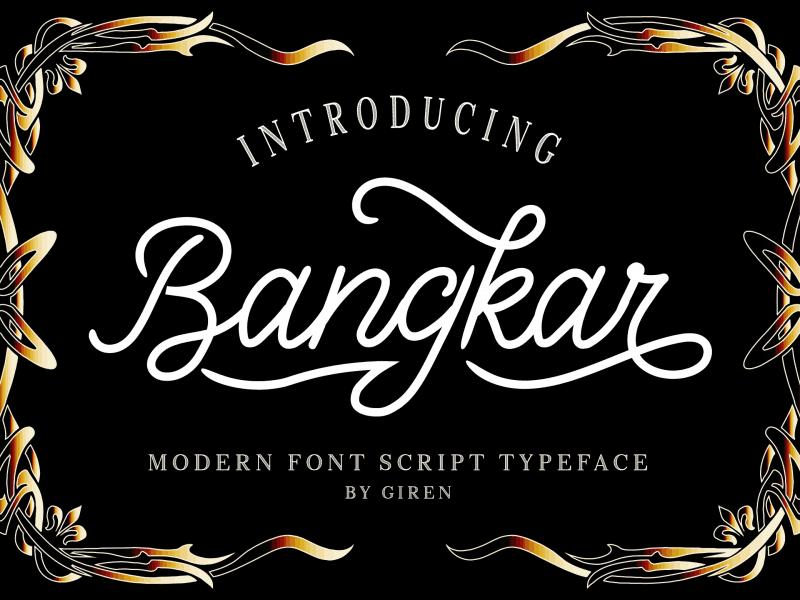 Bangkar шрифт скачать бесплатно