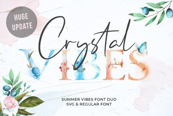 Crystal Vibes шрифт скачать бесплатно