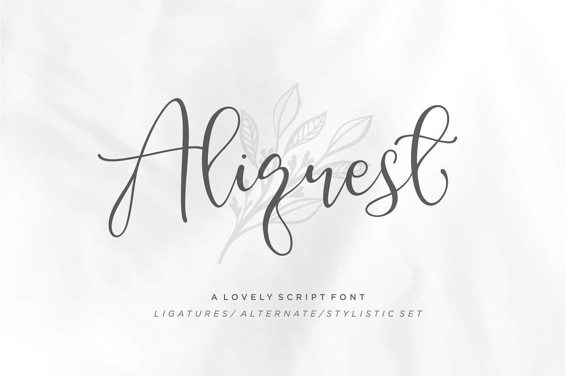 Aliquest шрифт скачать бесплатно