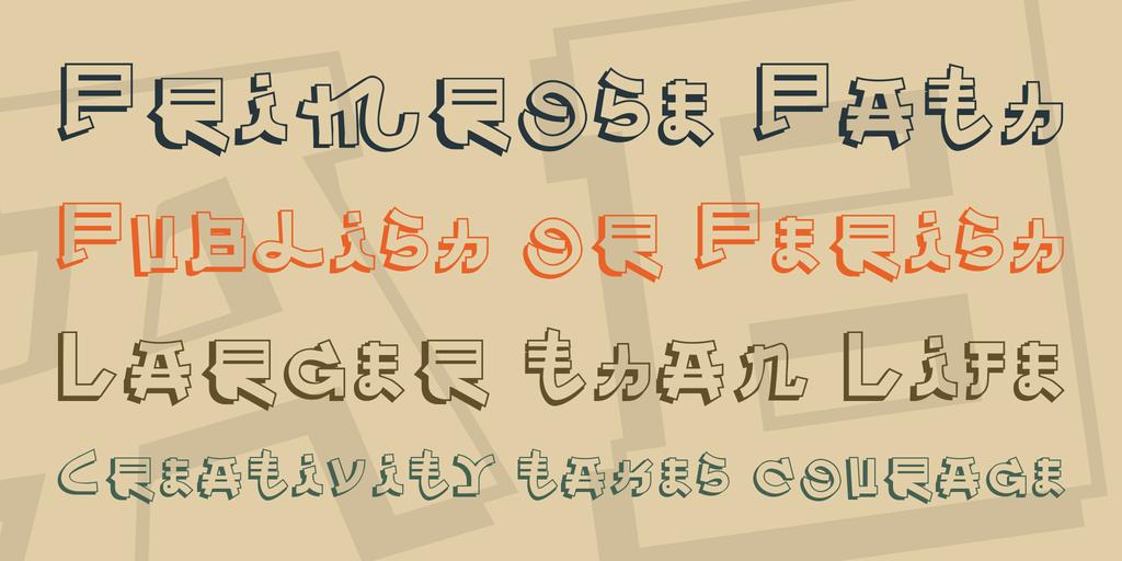 Almost Japanese шрифт скачать бесплатно