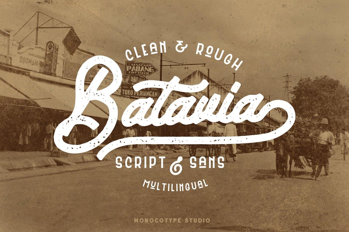 Batavia шрифт скачать бесплатно