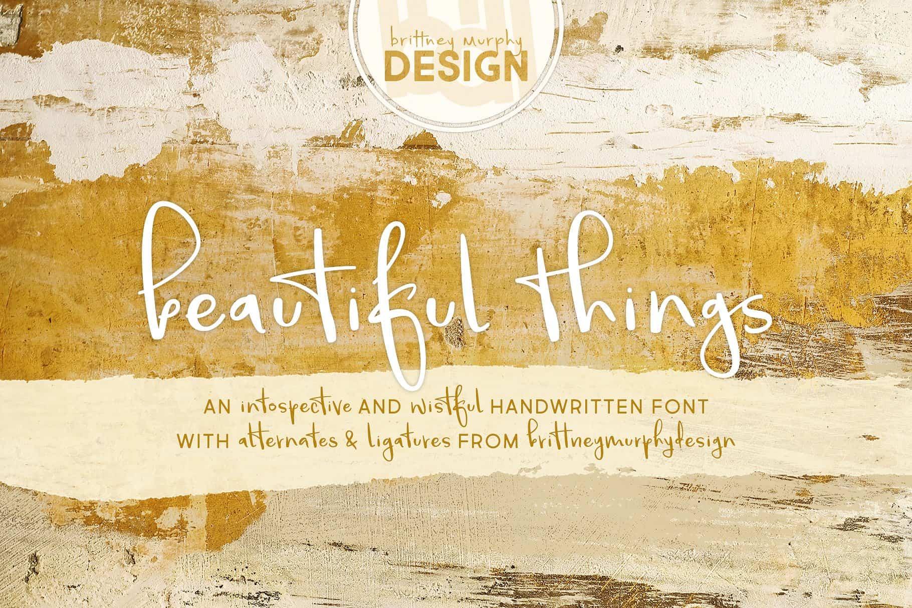 Beautiful Things шрифт скачать бесплатно