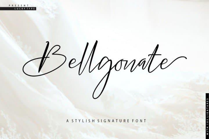 Bellgonate шрифт скачать бесплатно