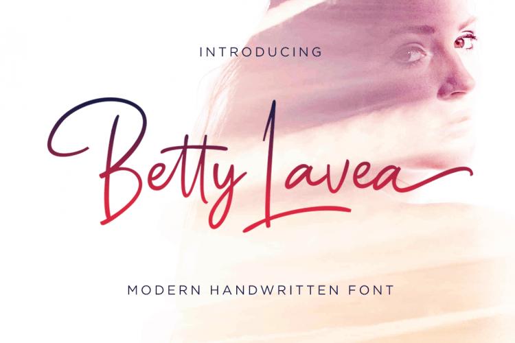 Betty Lavea шрифт скачать бесплатно