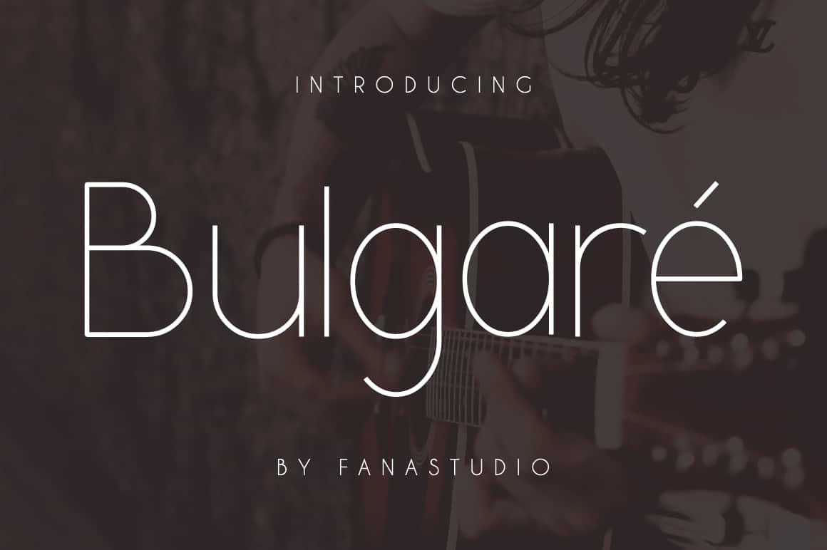 Bulgare шрифт скачать бесплатно