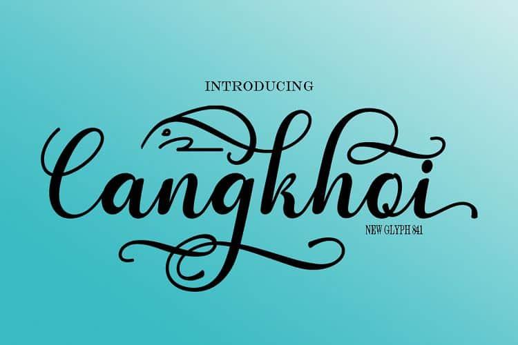 Cangkhoi шрифт скачать бесплатно