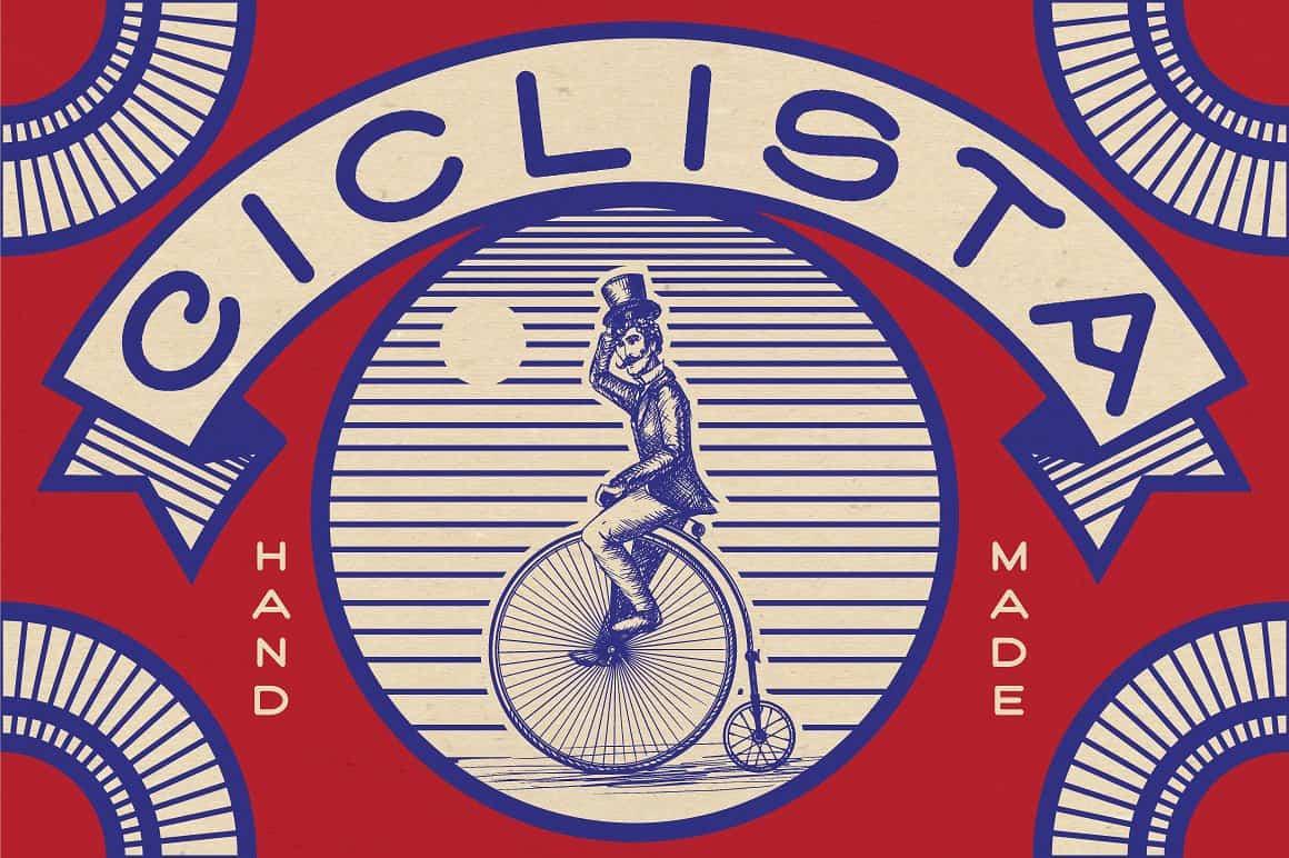 Ciclista шрифт скачать бесплатно