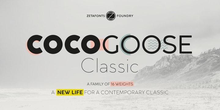 Cocogoose Classic шрифт скачать бесплатно