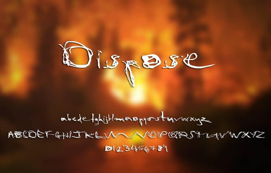 Dispose101 шрифт скачать бесплатно