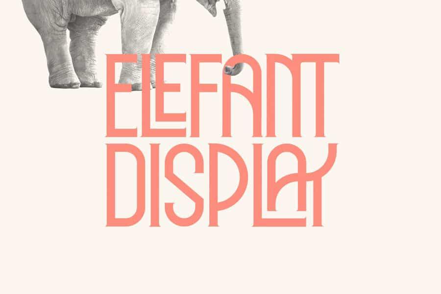Elephant шрифт скачать бесплатно