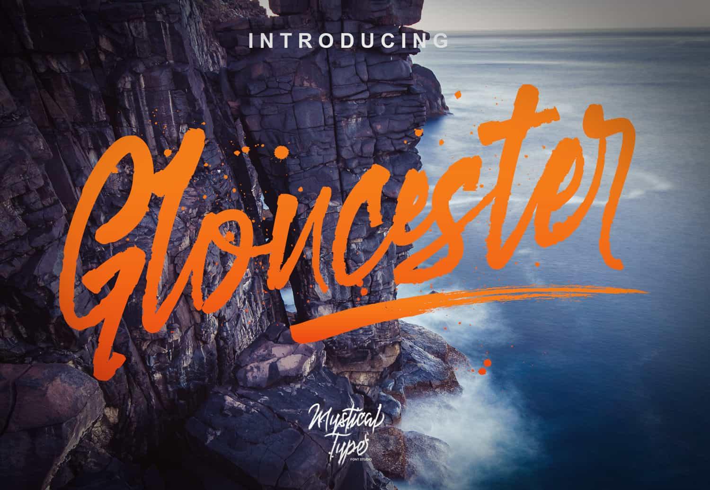 Gloucester шрифт скачать бесплатно