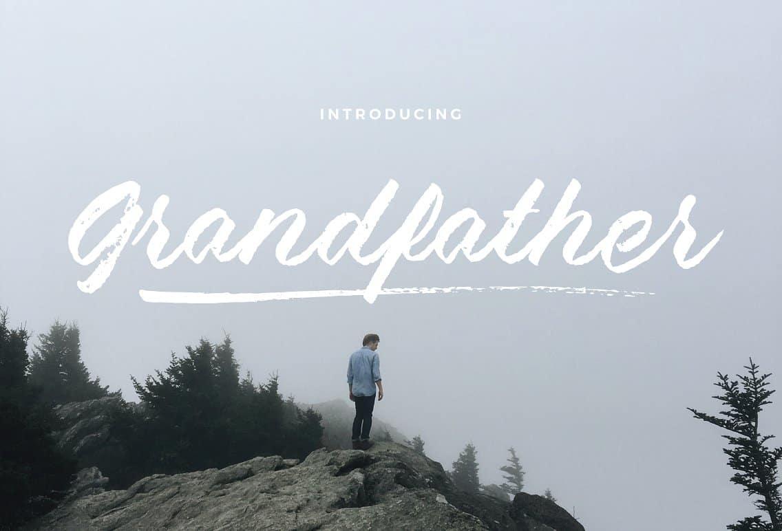 Grandfather шрифт скачать бесплатно