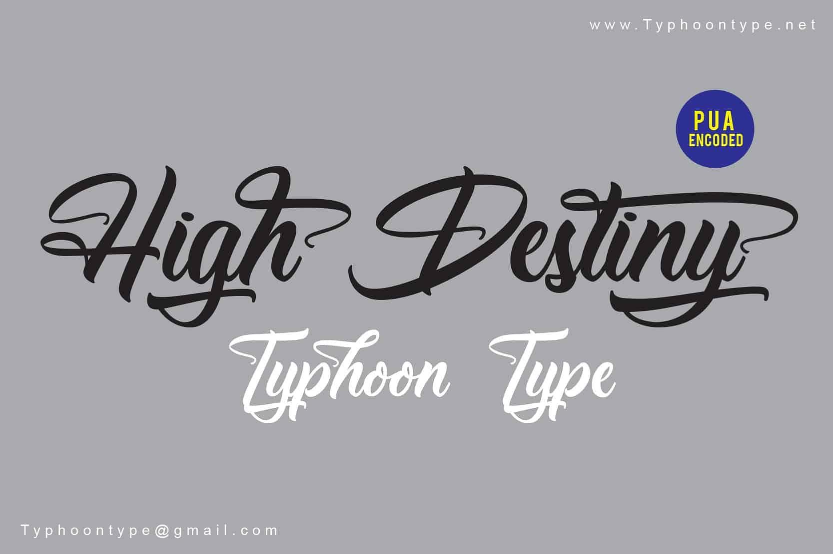 High Destiny шрифт скачать бесплатно
