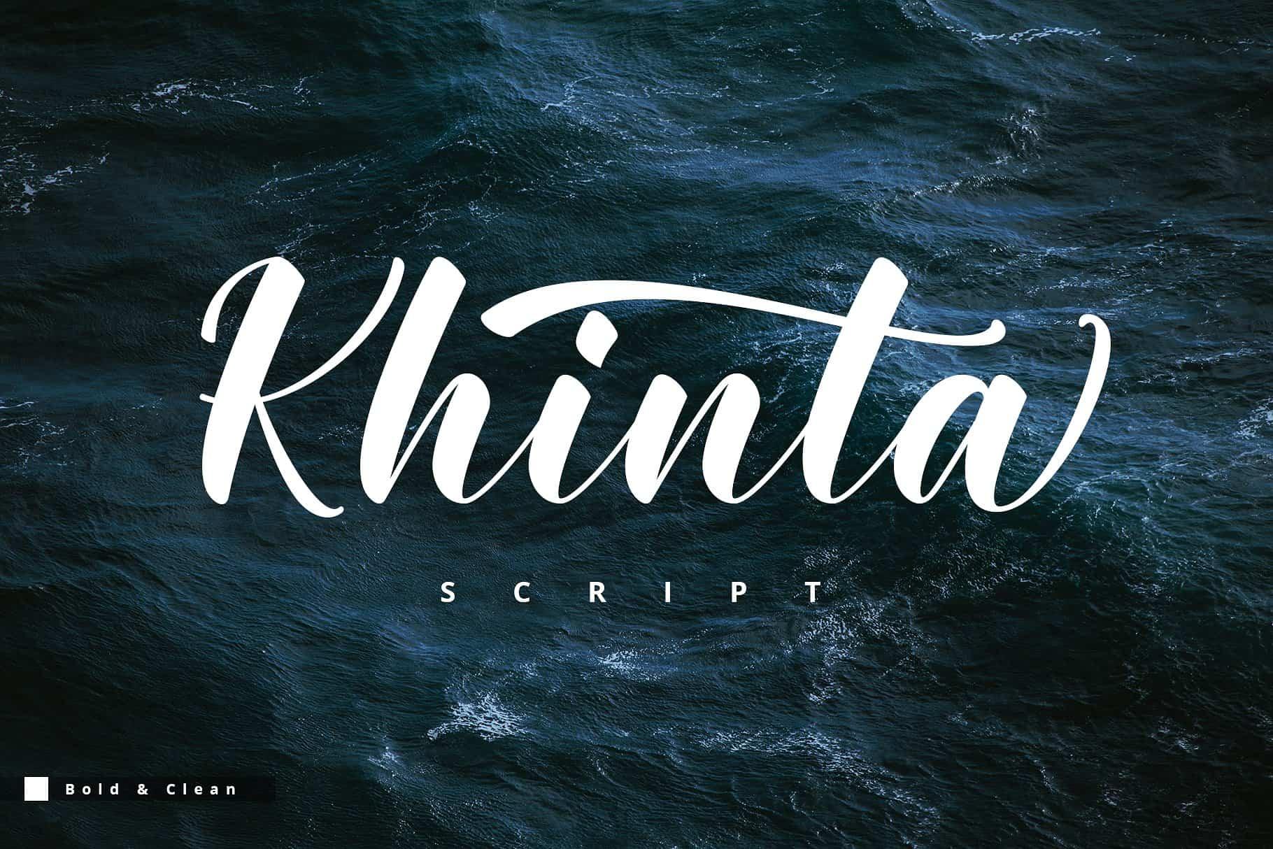 Khinta шрифт скачать бесплатно