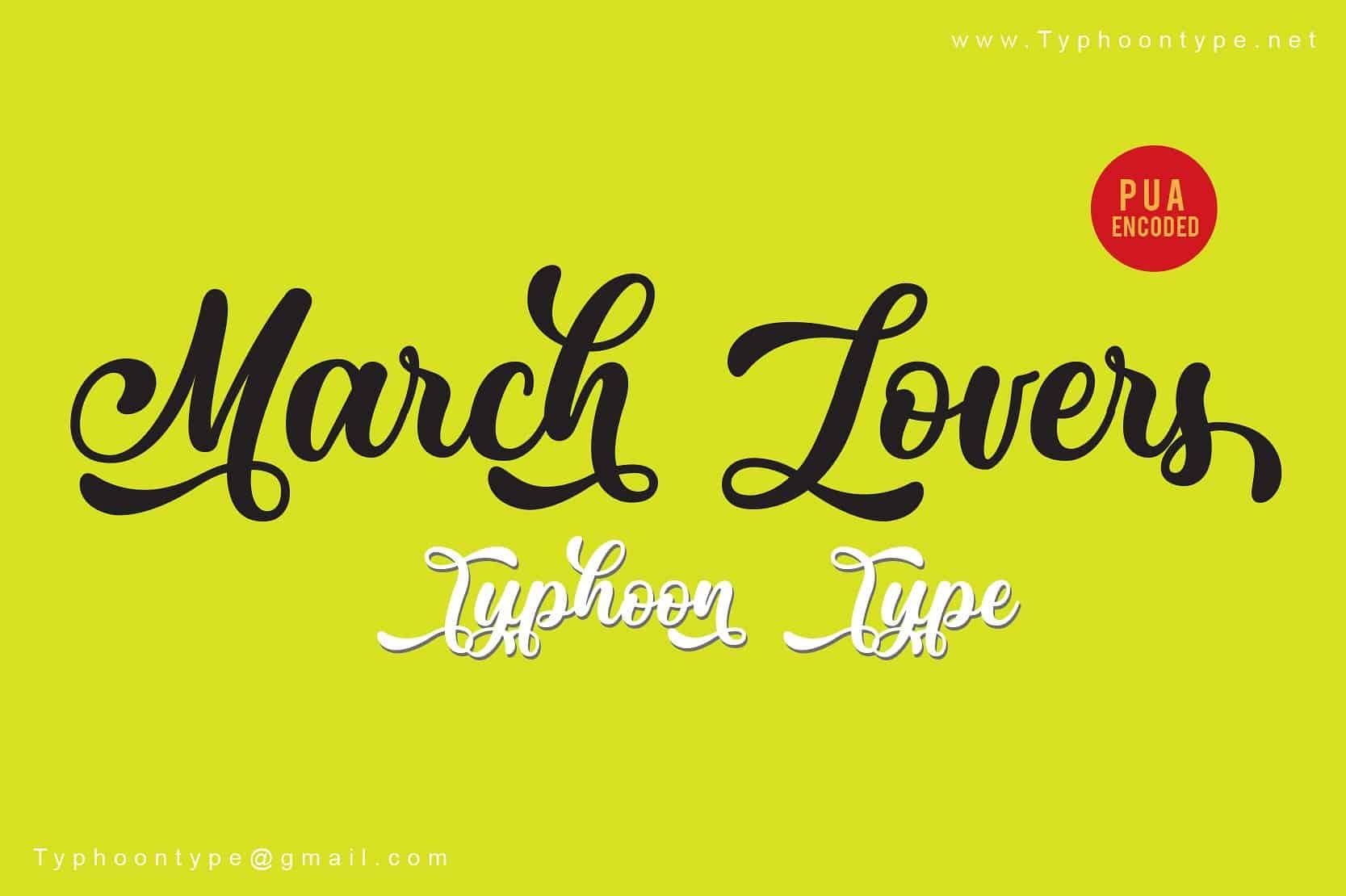 March Lovers шрифт скачать бесплатно