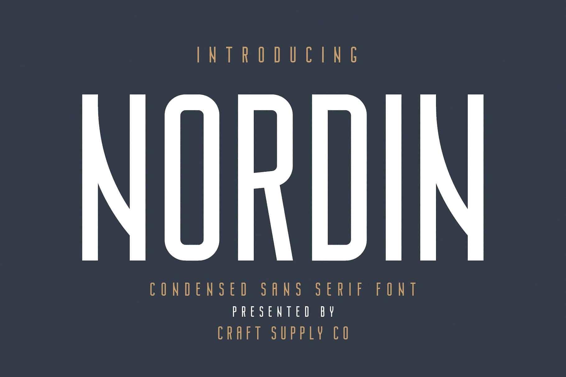 Nordin шрифт скачать бесплатно