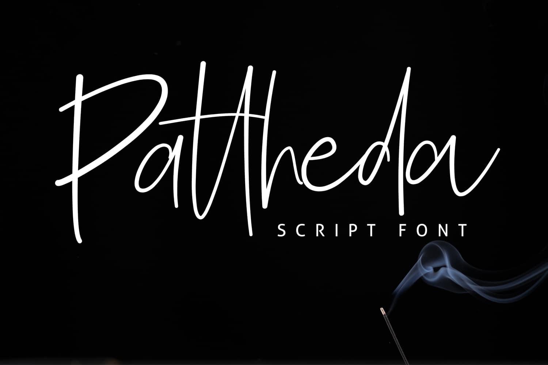 Pattheda шрифт скачать бесплатно