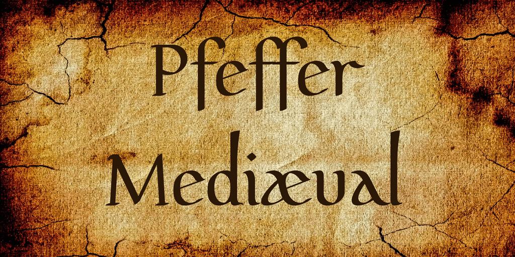 Pfeffer Mediæval шрифт скачать бесплатно