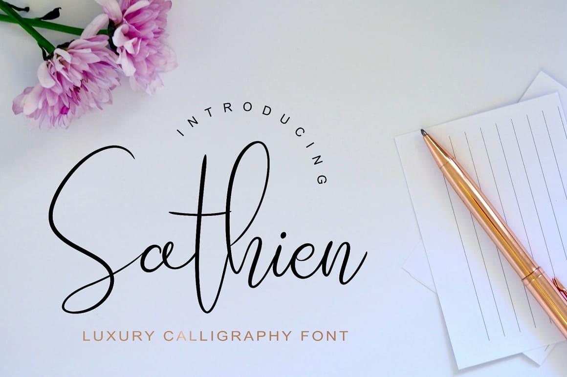 Sathien Luxurious шрифт скачать бесплатно
