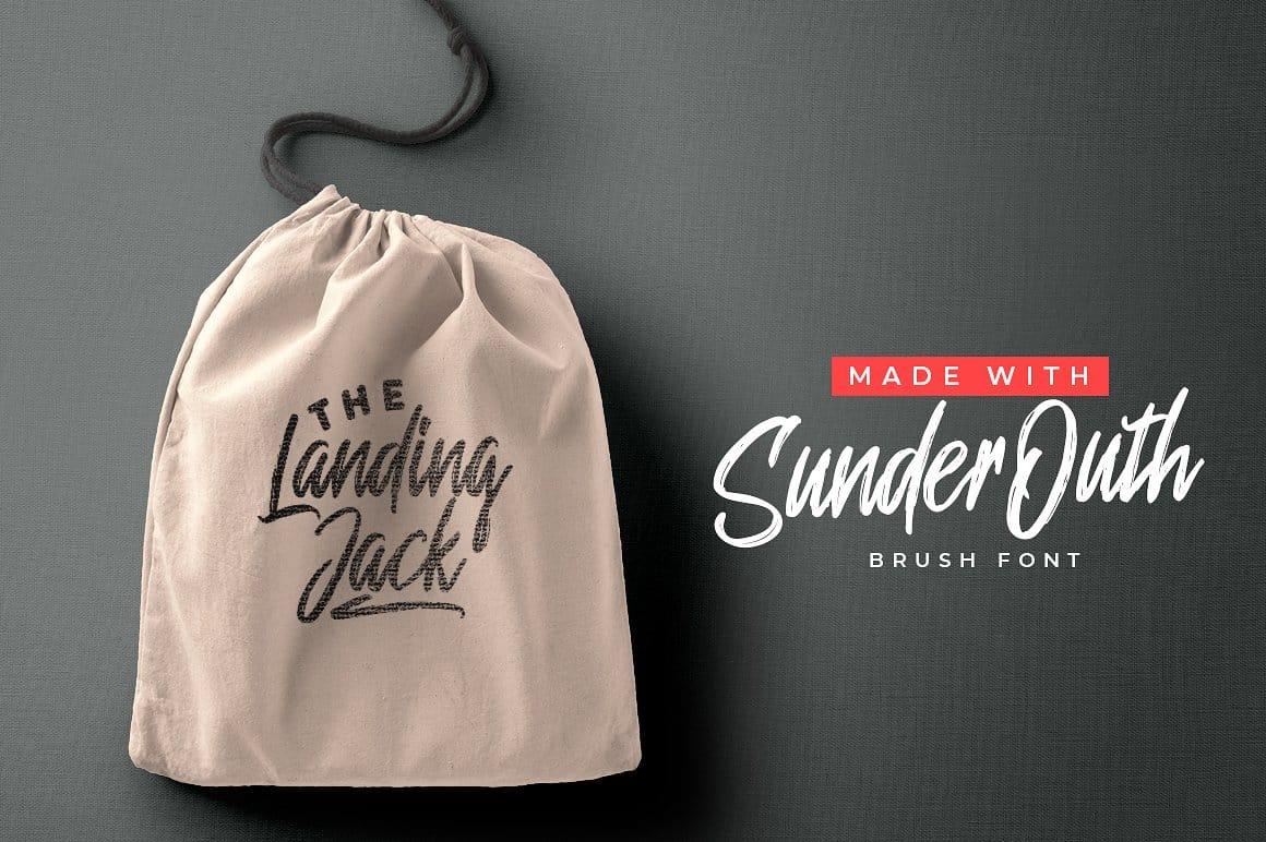Sunder Outh шрифт скачать бесплатно