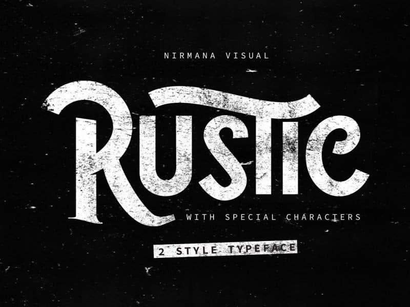 The Rustic шрифт скачать бесплатно