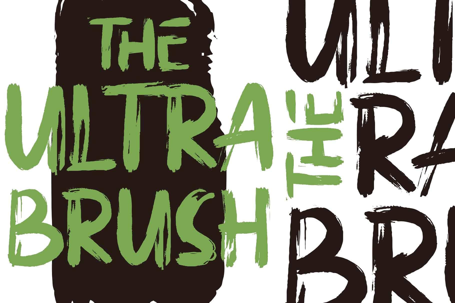 The Ultra Brush шрифт скачать бесплатно