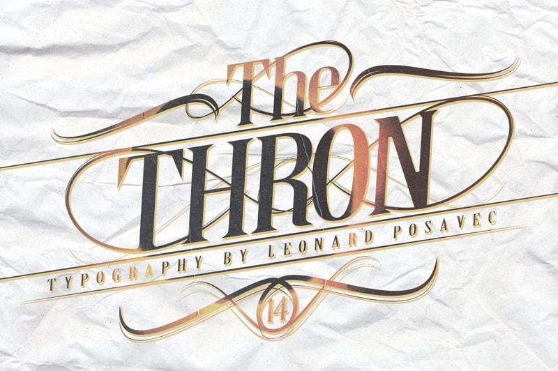 Thron шрифт скачать бесплатно